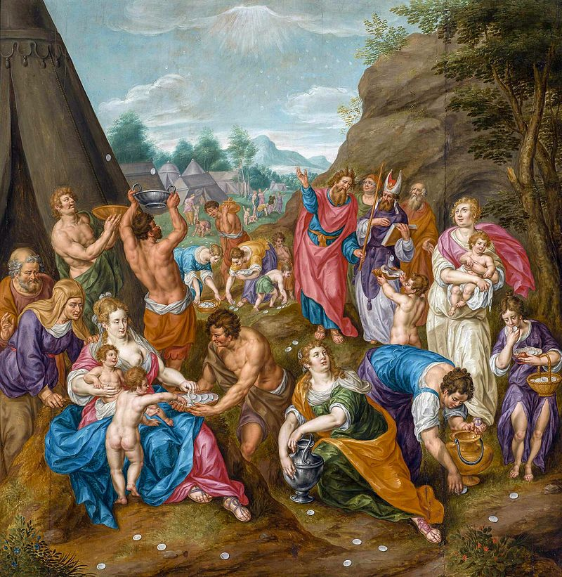 "Hendrick de Clerck. ""Israelites gathering Manna"""